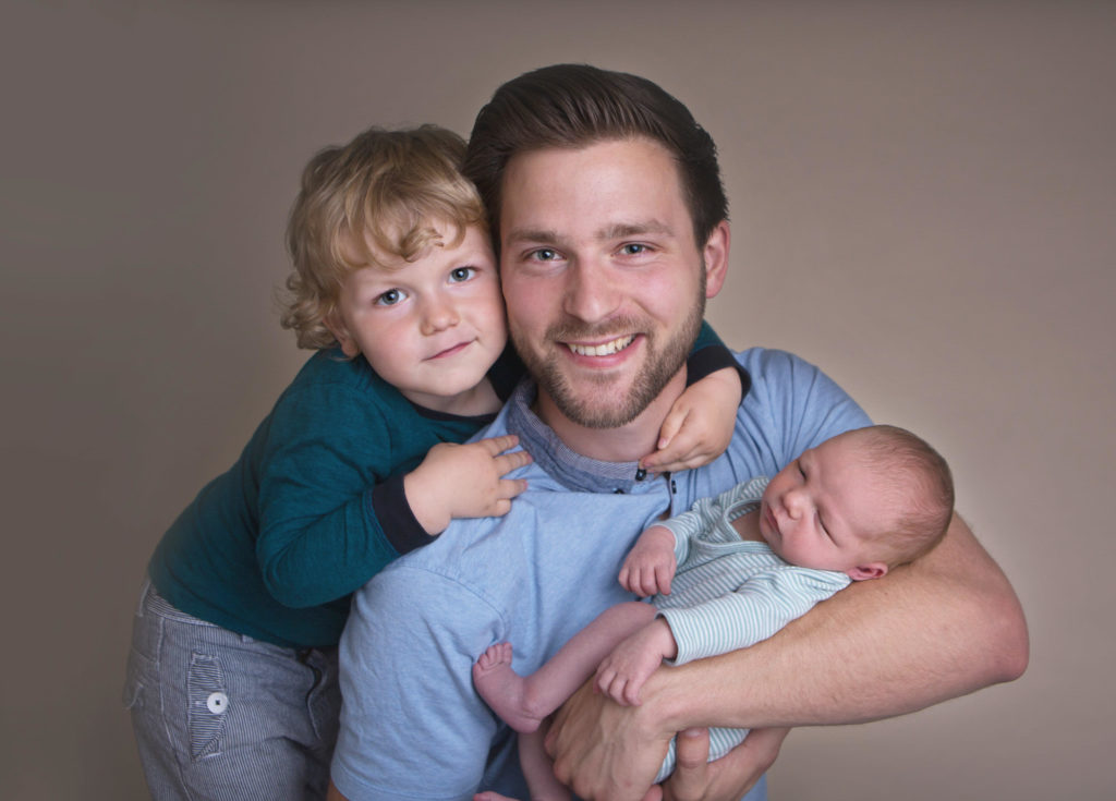 Dda, and this two new sons at their newborn session in Caerphilly